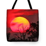 Louisiana Sunset On Fire Tote Bag