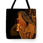 Sun On Leather Horse Saddle In Tack Room Equestrian Fine Art Photography Print Tote Bag