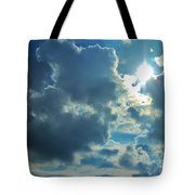 Sun Peeping Out Tote Bag