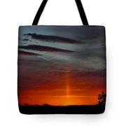 Sun Pillar In The Morning Tote Bag