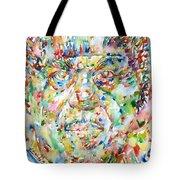 Sun Ra Watercolor Portrait Tote Bag