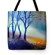 Sun Ray In Blue  Tote Bag