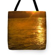 Sun Rays On The Payette River Tote Bag