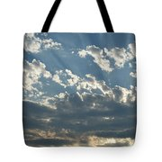Sun Rays Through The Clouds   # Tote Bag