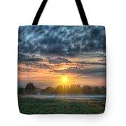 Sun Rays Vs Rain Clouds Tote Bag