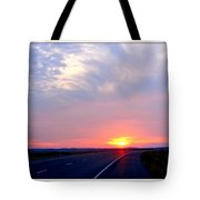 Sun Set Going Home On The Toll Road Tote Bag