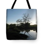 Sun Sets On Africa Tote Bag