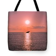 Sun Setting On Atlantus Tote Bag