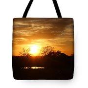 Sun Setting Over The Pond Tote Bag