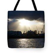 Sun Shining Through Clouds Tote Bag