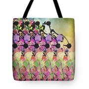 Sun Showers On Flowers Tote Bag