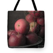 Sun Warmed Apples Still Life Square Tote Bag