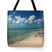 Sunbathers On The Beach Tote Bag