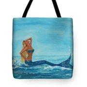 Sunbathing Mermaid Tote Bag