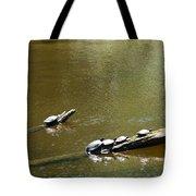 Sunbathing Turtles Tote Bag