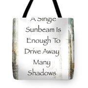 Sunbeam In The Piazza Tote Bag