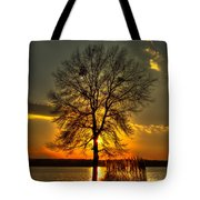 Sunblock A Sunset On Lake Oconee Tote Bag