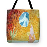 Sunburst, 1989 Wc On Paper Tote Bag
