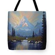 Sunburst Landscape Tote Bag by Richard Faulkner