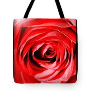 Sunburst On Red Rose With Framing Tote Bag