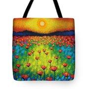 Sunburst Poppies Tote Bag