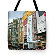 Sunday Afternoon On Pedestrian Walkway In Istanbul-turkey Tote Bag