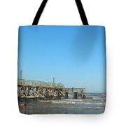 Sunday At Surfside Pier Tote Bag