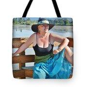 Sunday Lakeside  Tote Bag