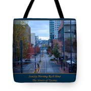 Sunday Morning Rush Hour Tote Bag