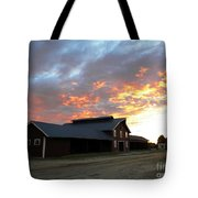 Fire In The Sky Sunday Tote Bag