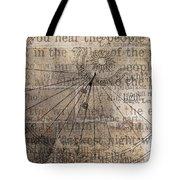 Sundial With Les Miz Tote Bag