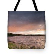 Sundown At Kielder Reservoir Tote Bag
