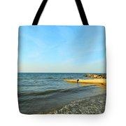 Sundown At Lake Erie  Tote Bag