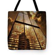 Sundown At Willis Sears Tower Tote Bag