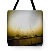 Sundown By The Lake Tote Bag