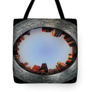 Sundown In The Chicago Canyons Polar View Tote Bag by Thomas Woolworth