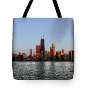 Sundown In The Chicago Canyons Tote Bag