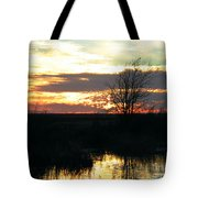 Sundown Lacassine Nwr Tote Bag