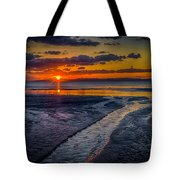 Sundown On Prestwick Beach Tote Bag