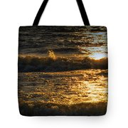 Sundown On The Waves Tote Bag
