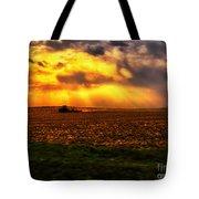 Sundown On The Working Farmer Tote Bag