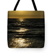 Sundown Reflections On The Waves Tote Bag