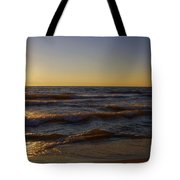 Sundown Scintillate On The Waves Tote Bag