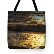 Sundown Shimmer On The Waves Tote Bag