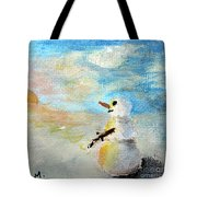 Sundown Snowman Tote Bag