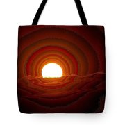 Sunfall Behind The Mountains Tote Bag