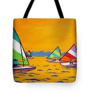 Sunfish Sailboat Race Tote Bag