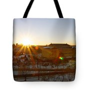 Sunflare At The Museum Tote Bag