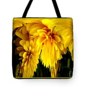 Sunflower Abstract 1 Tote Bag