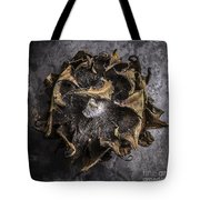 Sunflower Abstract Square Tote Bag